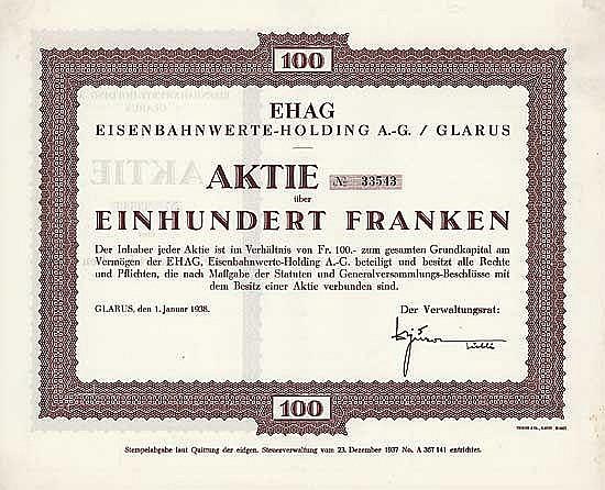 EHAG Eisenbahnwerte-Holding AG