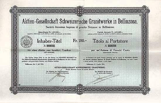 AG Schweizerische Granitwerke