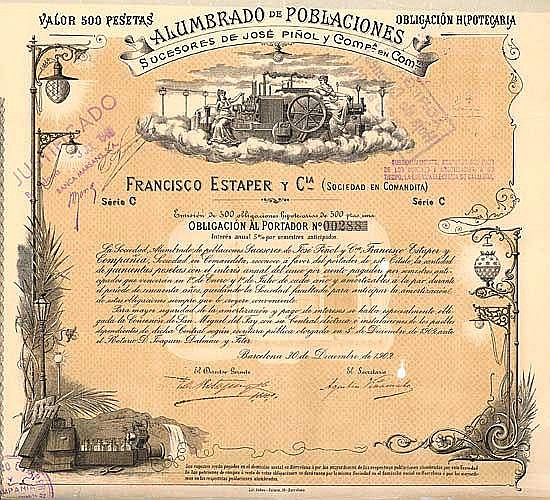 Alumbrado de Poblaciones Sucesores de José Pinol y Cia.