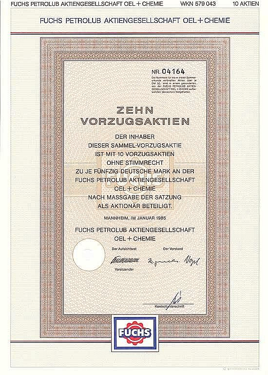 Fuchs Petrolub AG Oel + Chemie