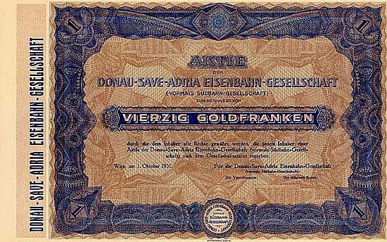 Donau-Save-Adria Eisenbahn-Gesellschaft (vormals Südbahn-Gesellschaft)