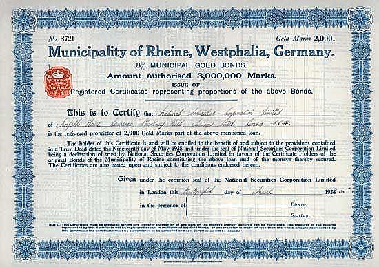 Stadt Rheine (Municipality of Rheine, Westphalia)