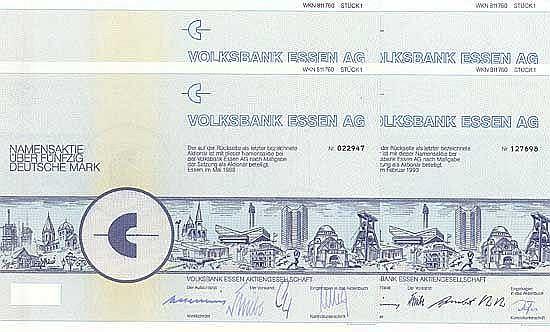 Volksbank Essen AG (4 Stücke)
