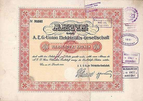 A.E.G.-Union Elektrizitäts-Gesellschaft
