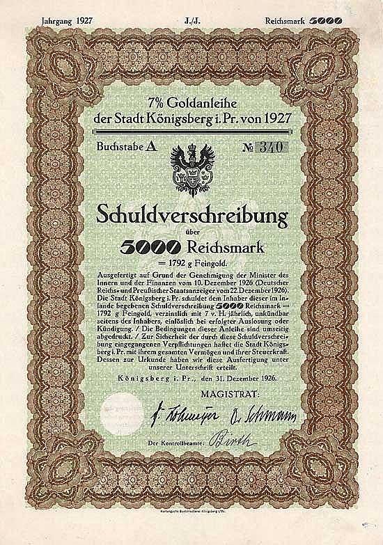 Stadt Königsberg i.Pr.