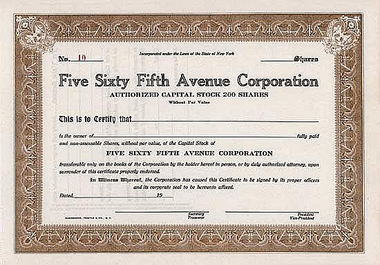 Five Sixty Fifth Avenue Corp.