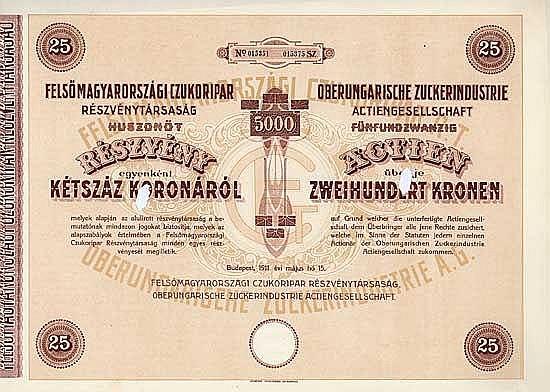 Oberungarische Zuckerindustrie AG
