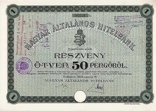 Ungarische Allgemeine Creditbank