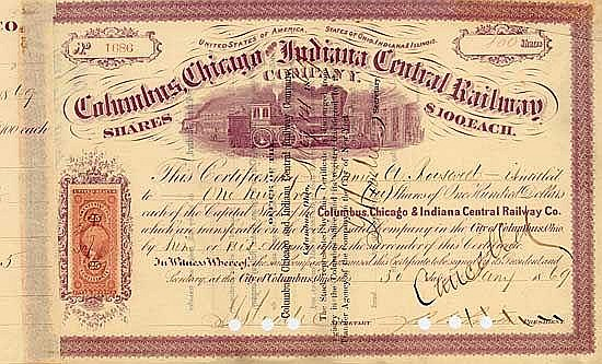 Columbus, Chicago & Indiana Central Railway