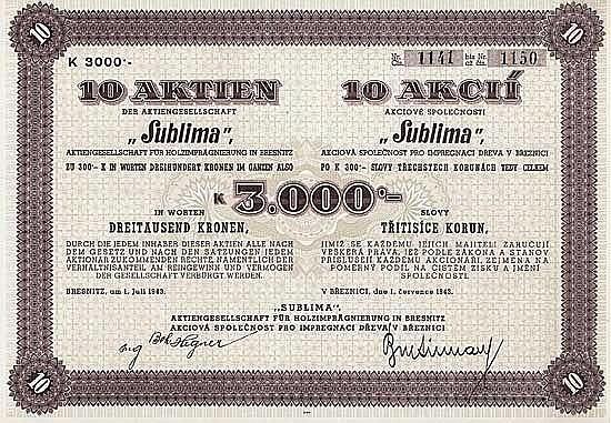 """Sublima"" AG für Holzimprägnierung"