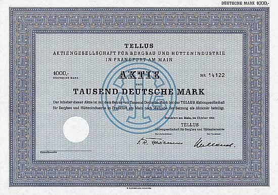TELLUS AG für Bergbau und Hüttenindustrie
