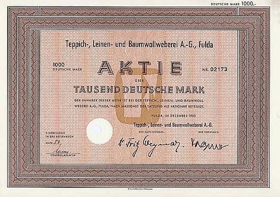 Teppich-, Leinen- und Baumwollweberei AG