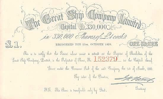 The Great Ship Company Ltd.