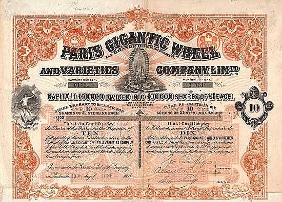 Paris Gigantic Wheel and Varieties Company, Ltd.