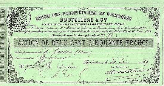 Union des Propriétaires de Vignobles Boutelleau & Cie.