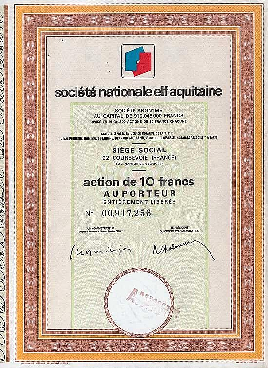 Soc. Nationale Elf Aquitaine S.A.