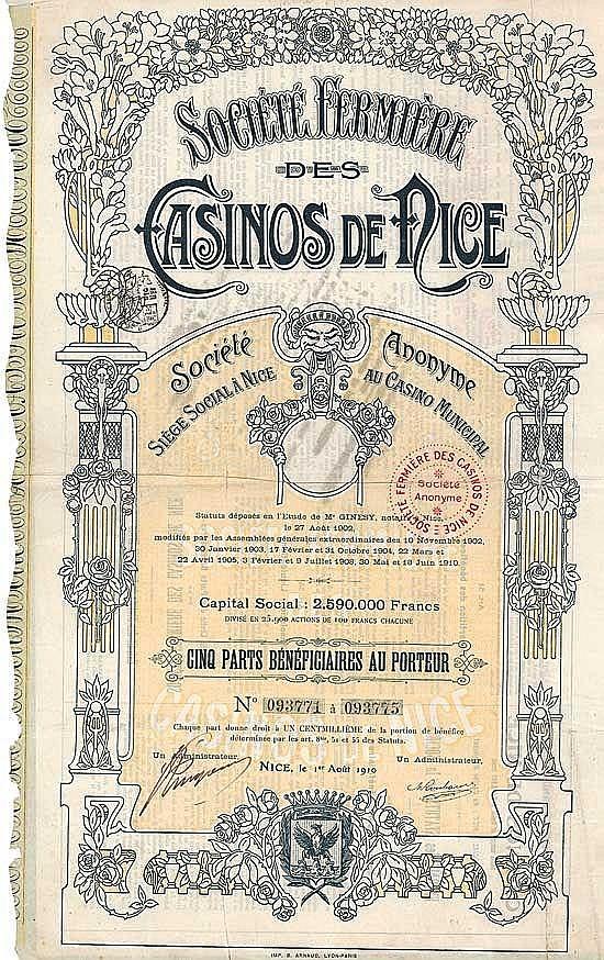 Société Fermière des Casinos de Nice S.A.