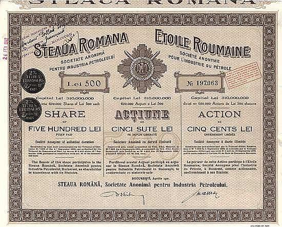 Steaua Romana S.A. Pentru Industria Petroleului