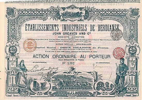 Etablissements Industriels de Berdiansk John Greaves and Co. S.A.