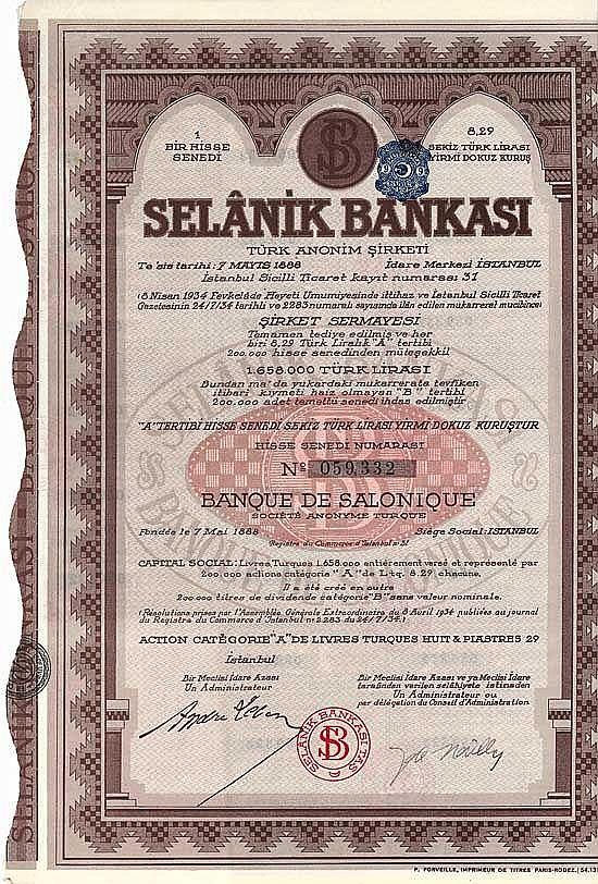 Banque de Salonique S.A. Turque (Selanik Bankasi)
