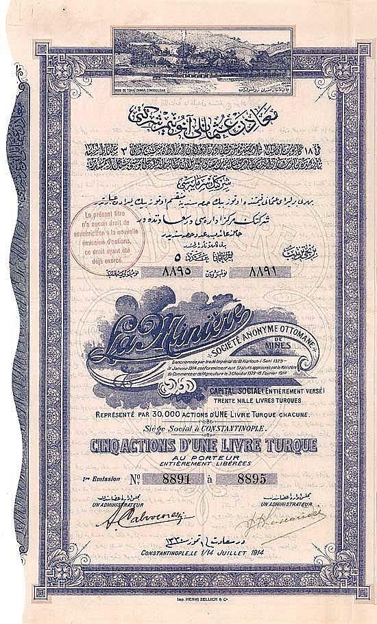 La Minière S.A. Ottomane de Mines