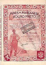 Mines de Manganese d´Ouro Preto (Minas Geraes, Bresil)