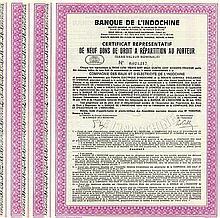 China-Lot: Banque de l'Indochine S.A. (Cie. des Eaux et d'Électricité de l'Indochine) (10 Stück)