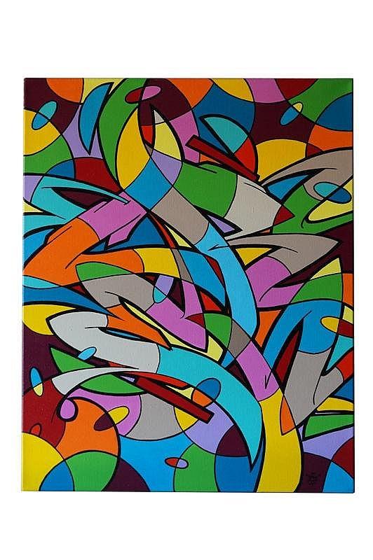 CREN (né en 1970). New Breed. Acrylique sur toile.