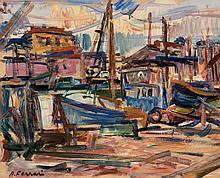 Antoine FERRARI (1910-1995) Le port.