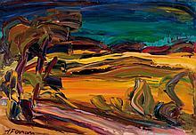 Antoine FERRARI (1910-1995) Paysage, chenes a Sault. 1979.