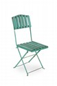 CHARLIONAIS & PA NASSIER Suite de trois chaises. Bois, métal. 93 x 43 x 39 cm. Circa 1940.