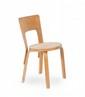 Alv ar AALTO (1898-1976) Ensemble comprenant une paire de chaises n°66 et un tabouret. Bois lamellé collé. 79 x 43 x 37 cm. Artek, circa 1960. Bibliographie : - Klaus-Jurgen Sembach, Modern Furniture Design 1950-1980s, Schiffer, 1997, modèle