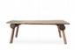 TRAVAIL ART POPULAIRE Table de salle à manger. Bois. 73 x 200 x 90 cm. Circa 1950.