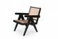 PIERRE JEANNERET (1896-1967) Paire de fauteuils dits Easy bas. Teck, moelle de rotin. 71 x 53 x 80 cm. Circa 1955. Provenance : - Chandigarh, Inde.