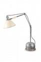 PERIHEL (1887-1948) Lampe de bureau articulée. Acier, bois, tôle. H. : 128 cm. Circa 1945.