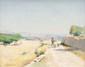Marius BARRET (1865-?) Berger sur la route. Huile sur toile. Signée en bas à gauche. 33 x 41 cm., Marius Antoine Barret, Click for value