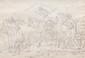 Jean Antoine CONSTANTIN D'AIX (1756-1844) Scène pastorale. Dessin à la plume. Cachet de collection. 26 x 37 cm.