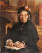 François-Auguste BIARD (1798-1882) La couturière. Huile sur toile. 41 x 33 cm.