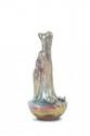 Rambervillers  La cruche cassée.  Vase en céramique irisée dans les tons  de vert et violet nuancés.  Signé. H. : 30 cm.