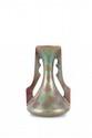 Clément Massier (1857-1933)  Vase piriforme à deux anses d'inspiration  hispano-mauresque en céramique irisée à décor  de fleurs stylisées. Signé et situé Golfe Juan.  H. : 10,5 cm.