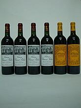 6 bouteilles 4 CHÂTEAU CLEMENT PICHON Rouge 2000 Haut Médoc   2 LES PELERINS DE LAFON ROCHET 2006 Saint Estephe