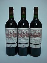 3 bouteilles CHÂTEAU COS D'ESTOURNEL 1995 GCC2 St Estephe (1 e.t.h. légère)