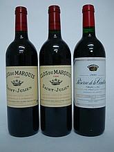 2 bouteilles   1 CLOS DU MARQUIS 1996 Saint Julien   1 RESERVE DE LA COMTESSE 1998 Pauillac
