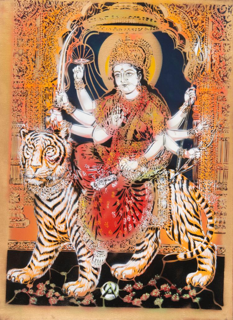 ARTISTE OUVRIER (1972) Shiva au tigre