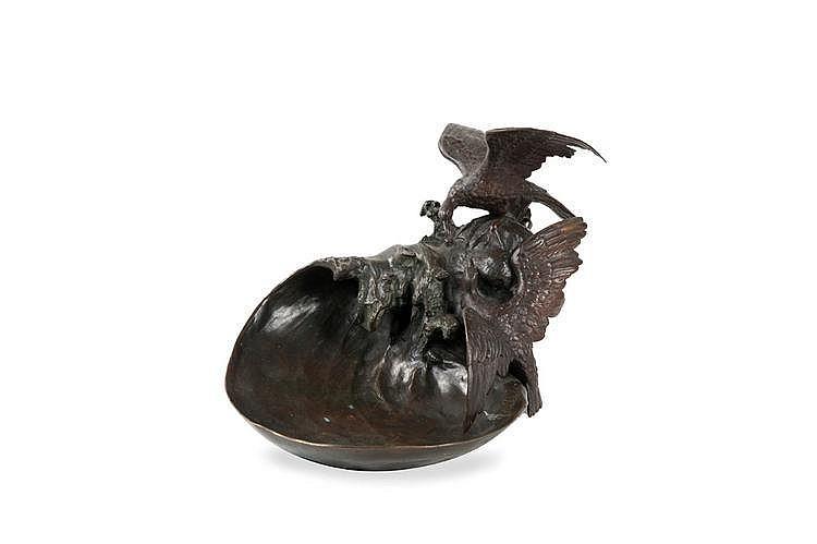 Louis, Loys POTET (1866-?) La vague. Bronze. Signé
