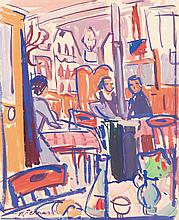 Antoine FERRARI (1910-1995) Scène de bar.