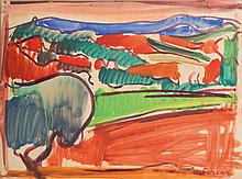 Antoine FERRARI (1910-1995) Paysage de Provence.