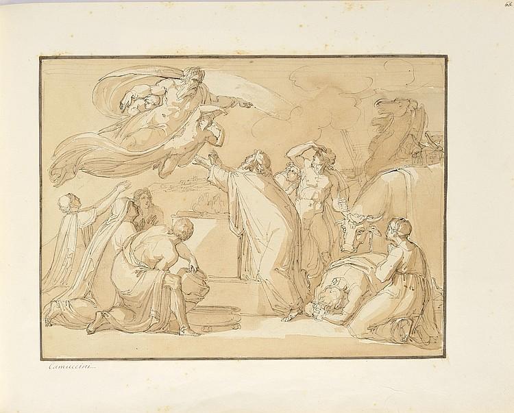 Vincenzo CAMUCCINI (Rome 1173 - 1844)Scène de