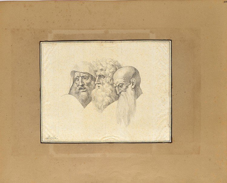 Giuseppe BOSSI (Milan 1777 - 1815)Etude de trois