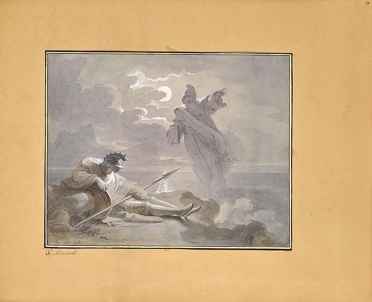 Tommaso MINARDI (Faenza 1787 - Rome 1871)Moine